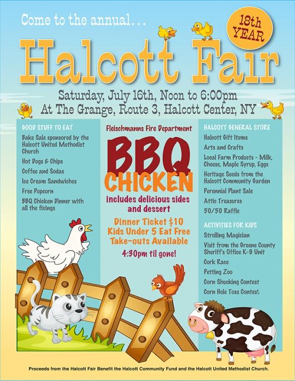 Halcott Fair 2016 poster